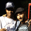 Our very own Emam with Bone Thugs & Harmony